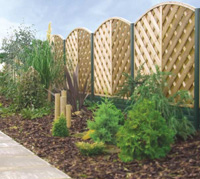 A variety of plastic vinyl fences and fencing solutions