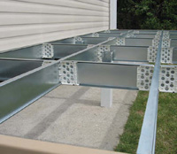 Steel Sub-frame for decking