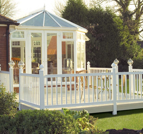 Beautiful Garden Vinyl  Decking